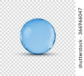 vector 3d crystal glass blue... | Shutterstock .eps vector #366966047