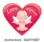 st. valentine's card. vector... | Shutterstock .eps vector #366974087