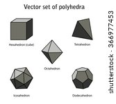 vector set of 3 dimensional... | Shutterstock .eps vector #366977453