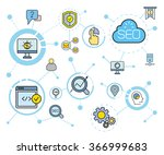 search engine optimization... | Shutterstock .eps vector #366999683