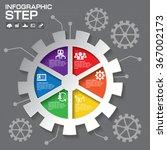 gear info graphic design ... | Shutterstock .eps vector #367002173