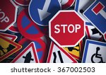 front view of numerous french... | Shutterstock . vector #367002503