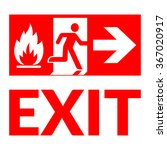 exit sign. emergency fire exit... | Shutterstock . vector #367020917