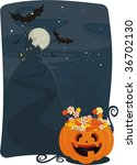 halloween candy in pumkin | Shutterstock .eps vector #36702130