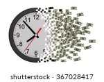 time is money. clock falling... | Shutterstock . vector #367028417