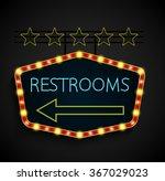 shining retro light banner... | Shutterstock . vector #367029023