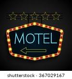 shining retro light banner... | Shutterstock . vector #367029167