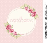 cute shabby chic frame with... | Shutterstock .eps vector #367033667