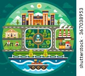 city circle landscape....   Shutterstock .eps vector #367038953