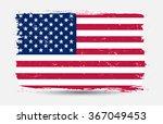 grunge usa flag.american flag... | Shutterstock .eps vector #367049453