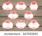vector set of labels with... | Shutterstock .eps vector #367052843