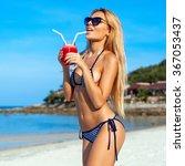 beach sea blue sky summer... | Shutterstock . vector #367053437