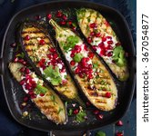 Grilled Eggplants With Garlic...