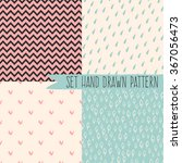 set of seamless patterns with... | Shutterstock .eps vector #367056473