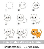 step by step drawing tutorial.... | Shutterstock .eps vector #367061807