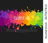 Bright And Colorful Banner Wit...