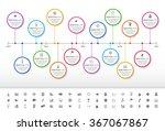 modern rainbow timeline with... | Shutterstock .eps vector #367067867