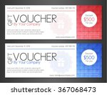 modern simple voucher with...