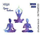 set of vector shapes of yoga... | Shutterstock .eps vector #367068533