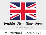 a happy new year flag... | Shutterstock .eps vector #367071173