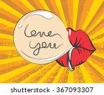 valentines day vintage... | Shutterstock .eps vector #367093307