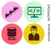 professions. programmer. people ... | Shutterstock .eps vector #367095263