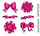 bows and ribbons pink set.... | Shutterstock .eps vector #367097243