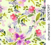 seamless pattern with flowers... | Shutterstock . vector #367097297