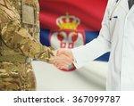 soldier in uniform and doctor... | Shutterstock . vector #367099787