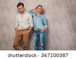 handsome man pose in studio... | Shutterstock . vector #367100387