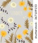dandelions. vector background | Shutterstock .eps vector #367109153