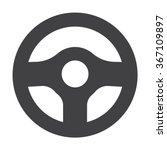 Постер, плакат: Steering Wheel Icon Steering
