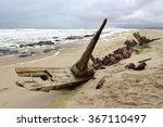 ship wreck in skeleton coast ... | Shutterstock . vector #367110497
