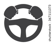 Car Driver Icon Vector. Car...