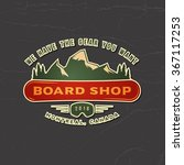 snowboarding emblem. logotype... | Shutterstock .eps vector #367117253