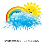 vector illustration. fun sun ... | Shutterstock .eps vector #367119827