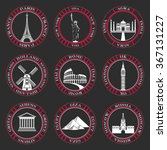 stickers and icons of travel.... | Shutterstock .eps vector #367131227