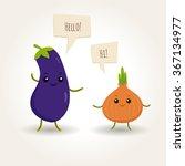 illustration of happy flat... | Shutterstock .eps vector #367134977