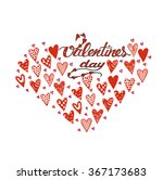 happy valentines day hand... | Shutterstock .eps vector #367173683
