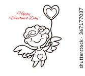 vector illustration of cute... | Shutterstock .eps vector #367177037