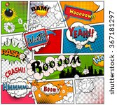 comic book page divided by... | Shutterstock .eps vector #367181297