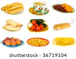 combined  junk and healthy food ... | Shutterstock . vector #36719104