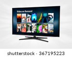 video on demand vod application ... | Shutterstock . vector #367195223