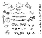 wedding hand made graphic set... | Shutterstock .eps vector #367195487
