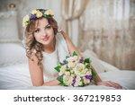 wedding beautiful bride bridal... | Shutterstock . vector #367219853
