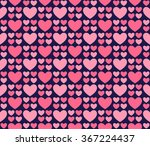 seamless romantic hearts... | Shutterstock .eps vector #367224437