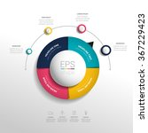 circle  round infographic.... | Shutterstock .eps vector #367229423