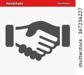 handshake icon. professional ... | Shutterstock .eps vector #367236227
