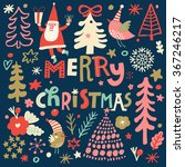 lovely merry christmas card in... | Shutterstock .eps vector #367246217
