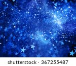blue glowing star shape fractal ... | Shutterstock . vector #367255487